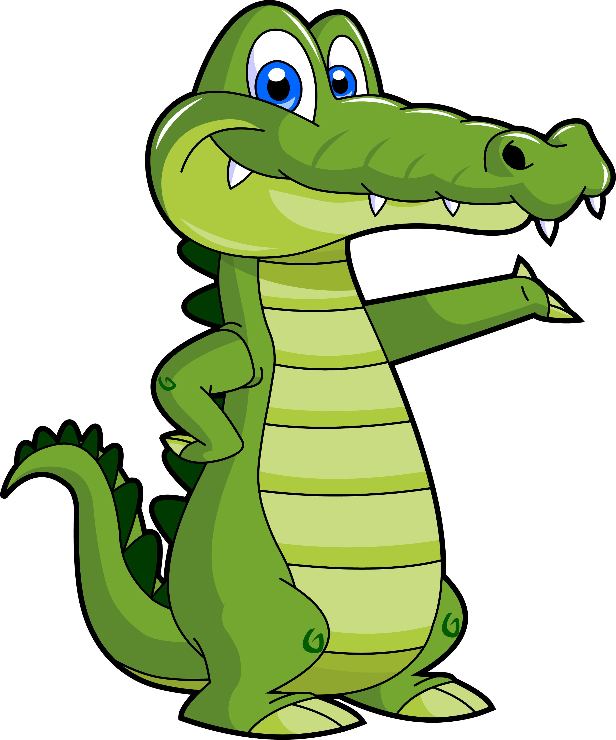 Alligator Clip Art  Cartoon Alligator Clipart