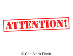 Attention Red Rubber Stamp Over A White Background