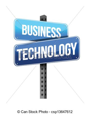 Business Technology Sign Illustration Design Over A White Background