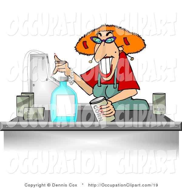 Clip Art Of A Cashier Lady By Djart    19