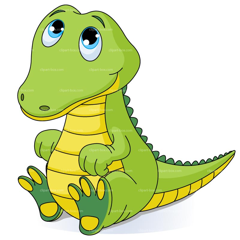Clipart Baby Crocodile   Royalty Free Vector Design