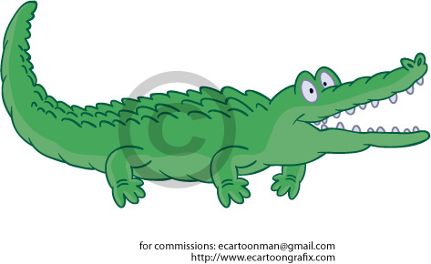 Clipart Excited Alligator