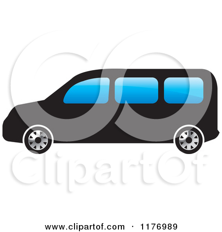 Clipart Of A Blue Tourist Van   Royalty Free Vector Illustration By