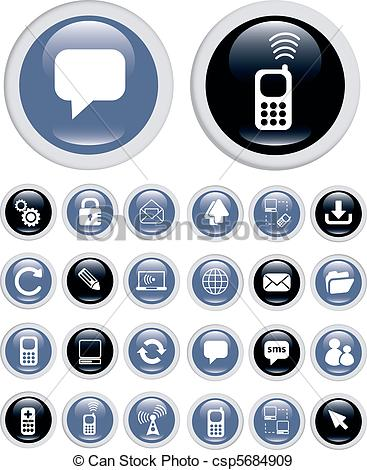 Eps Vectors Of Business Technology Icons   Business Technology Top