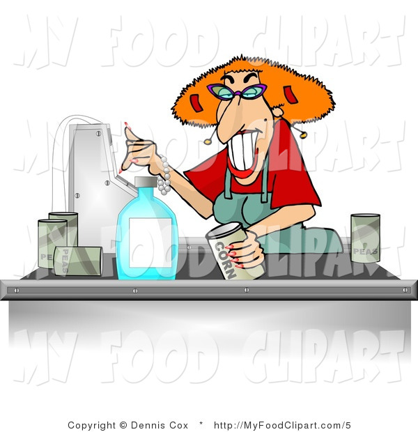 Food Clip Art Of A Female Cashier Checking Out Groceries By Djart    5