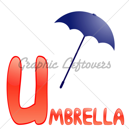 Funny Alphabet For Children  Umbrella Letter U