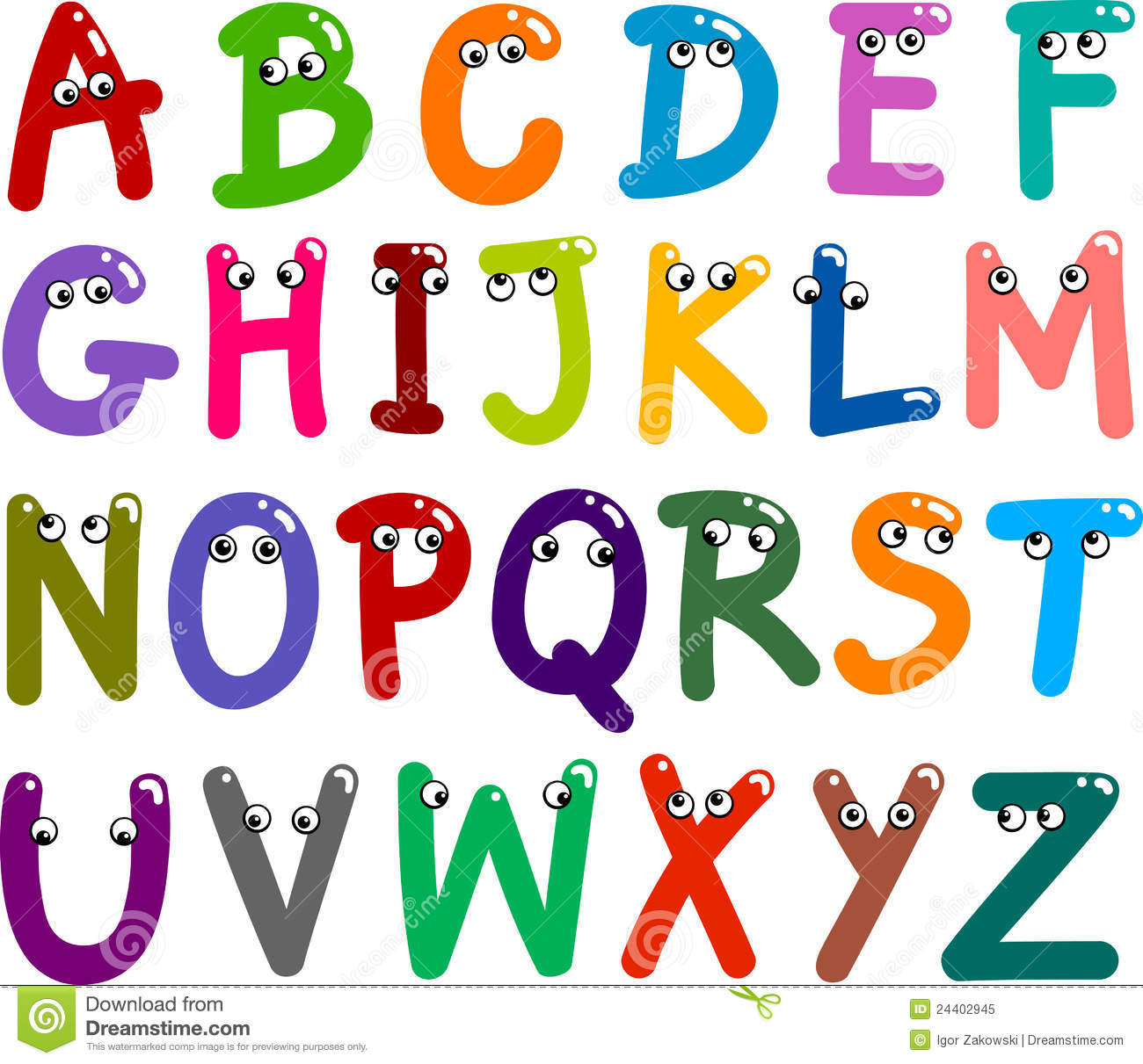 Funny Capital Letters Alphabet Royalty Free Stock Photo   Image