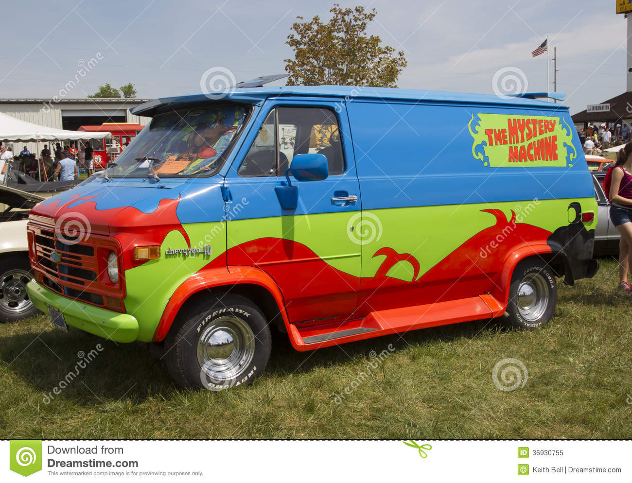 Iola Wi   July 13  Side Of 1974 Chevy Scooby Doo Mystery Machine Van