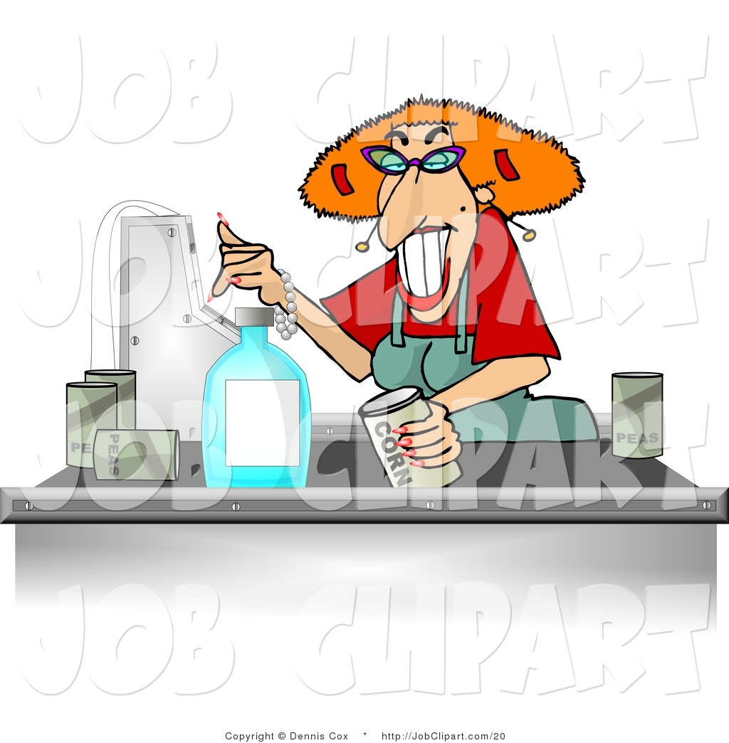 Larger Preview  Job Clip Art Of A Grocery Cashier Woman By Djart