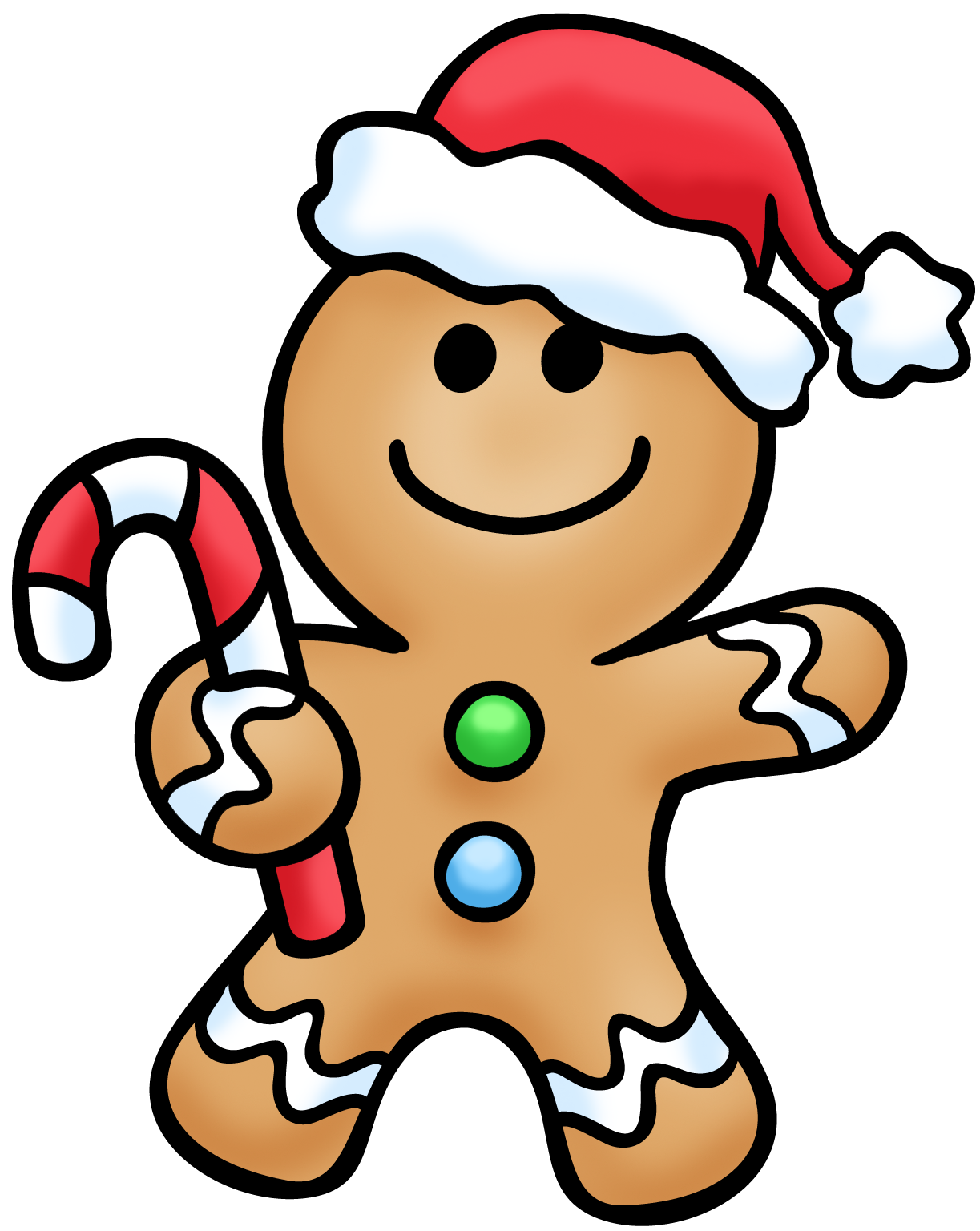 Christmas Gingerbread Man Clipart - Clipart Kid