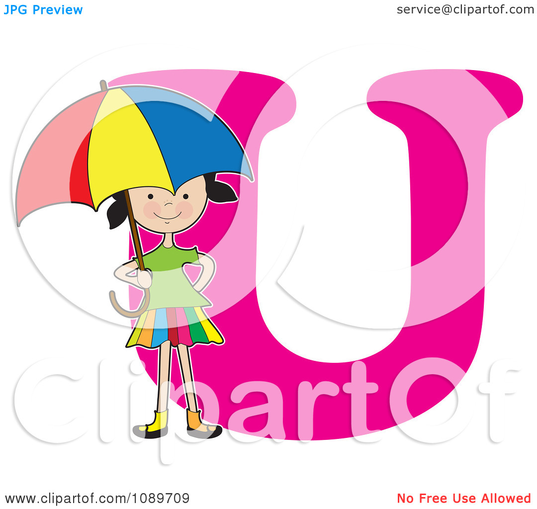 Silly U Letter Clipart - Clipart Kid