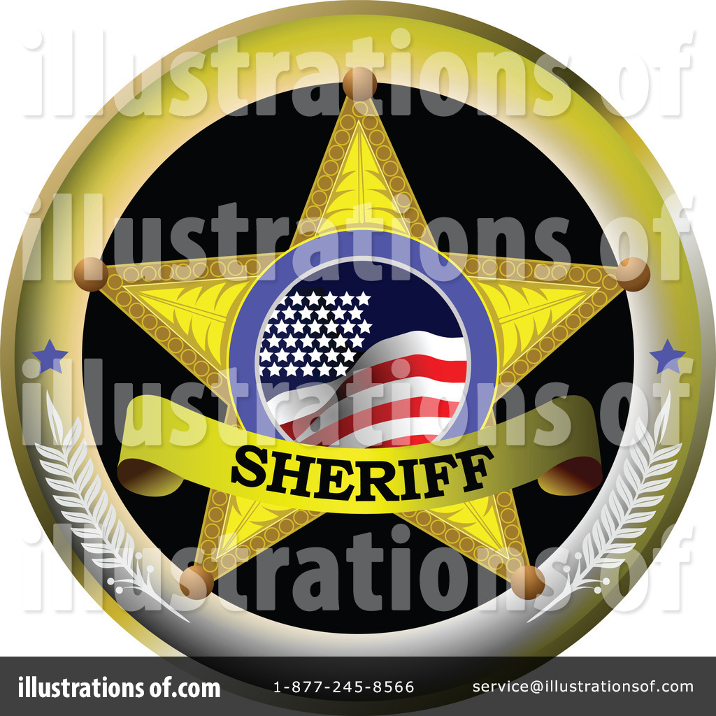 Sheriff Clipart  1219857 By Leonid   Royalty Free  Rf  Stock