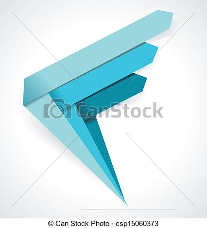 Vector   Business Abstract Arrows Icon  Corporate Media Technology