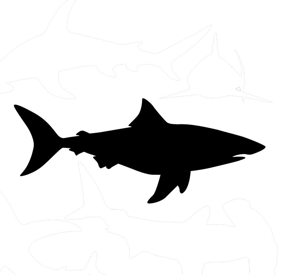 Bull Shark Silhouette Clipart