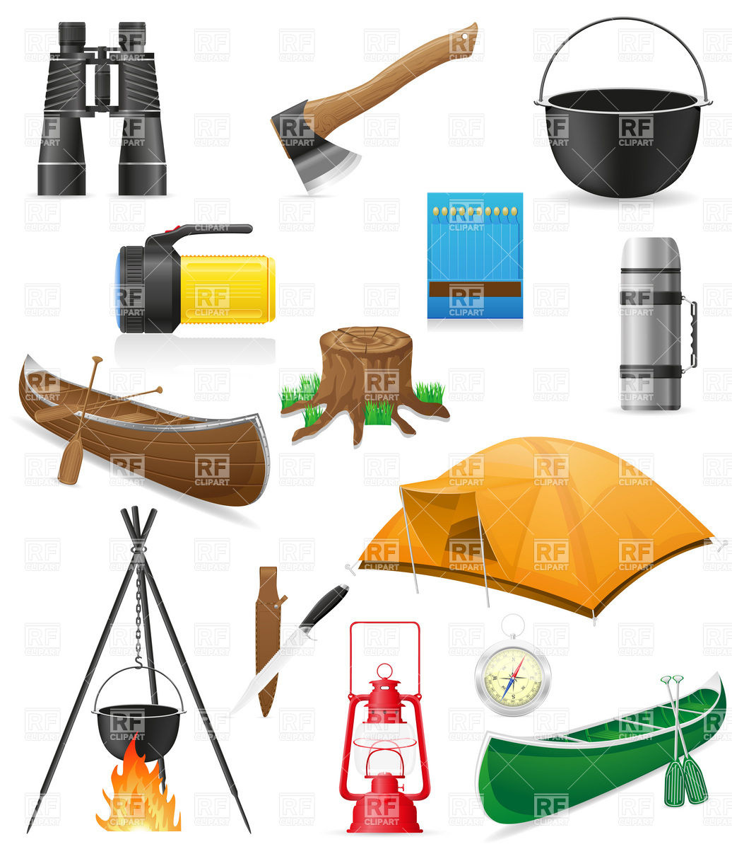 Camping Equipment And Outdoor Hiking Objects 19752 Travel Download