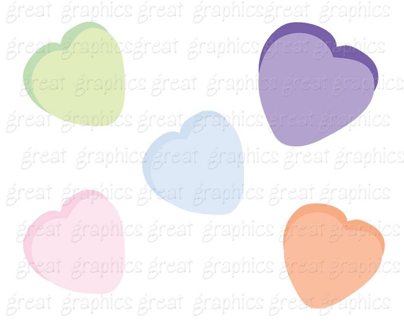 Clip Art Valentine Digital Valentine Candy Heart Digital Clip Art