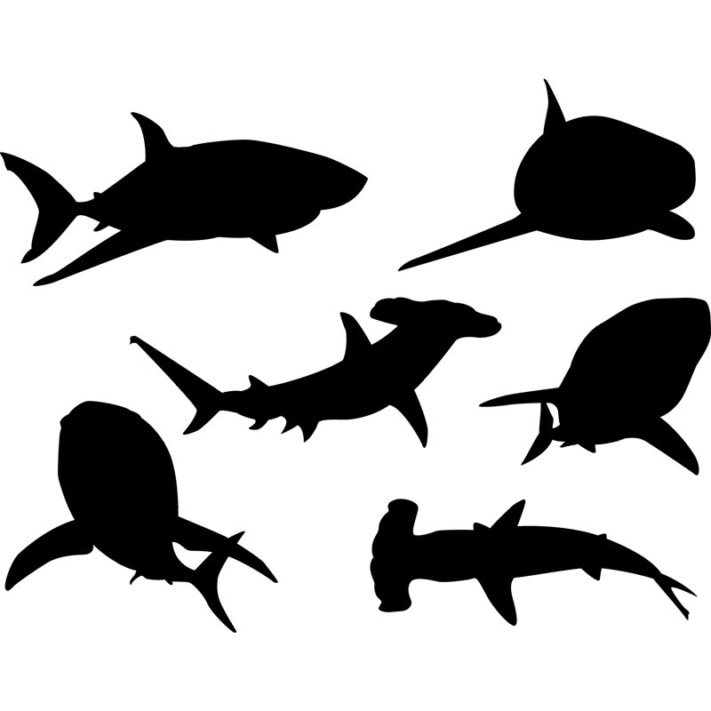 Clipart Shark Silhouette 2   Royalty Free Vector Design