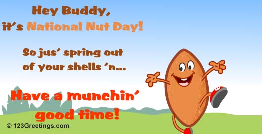 Have A Munchin  Good Time  Free National Nut Day Ecards Greeting