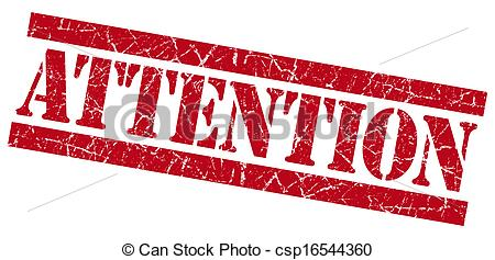 Of Attention Grunge Red Stamp Csp16544360   Search Clip Art