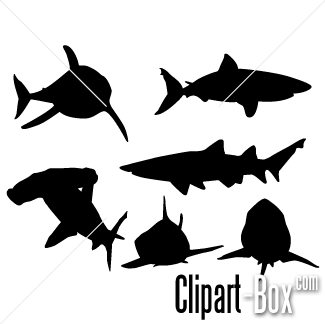 Related Shark Silhouette 3 Cliparts