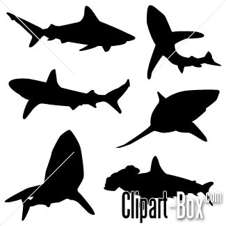 Related Shark Silhouette Cliparts