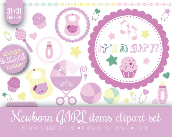 Sale   Baby Baby Clipart Newborn From Paperprintsdesign On