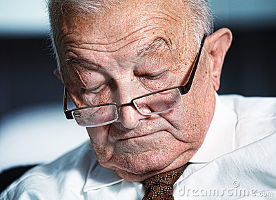 Sleeping Old Man Stock Image   Image  16648871