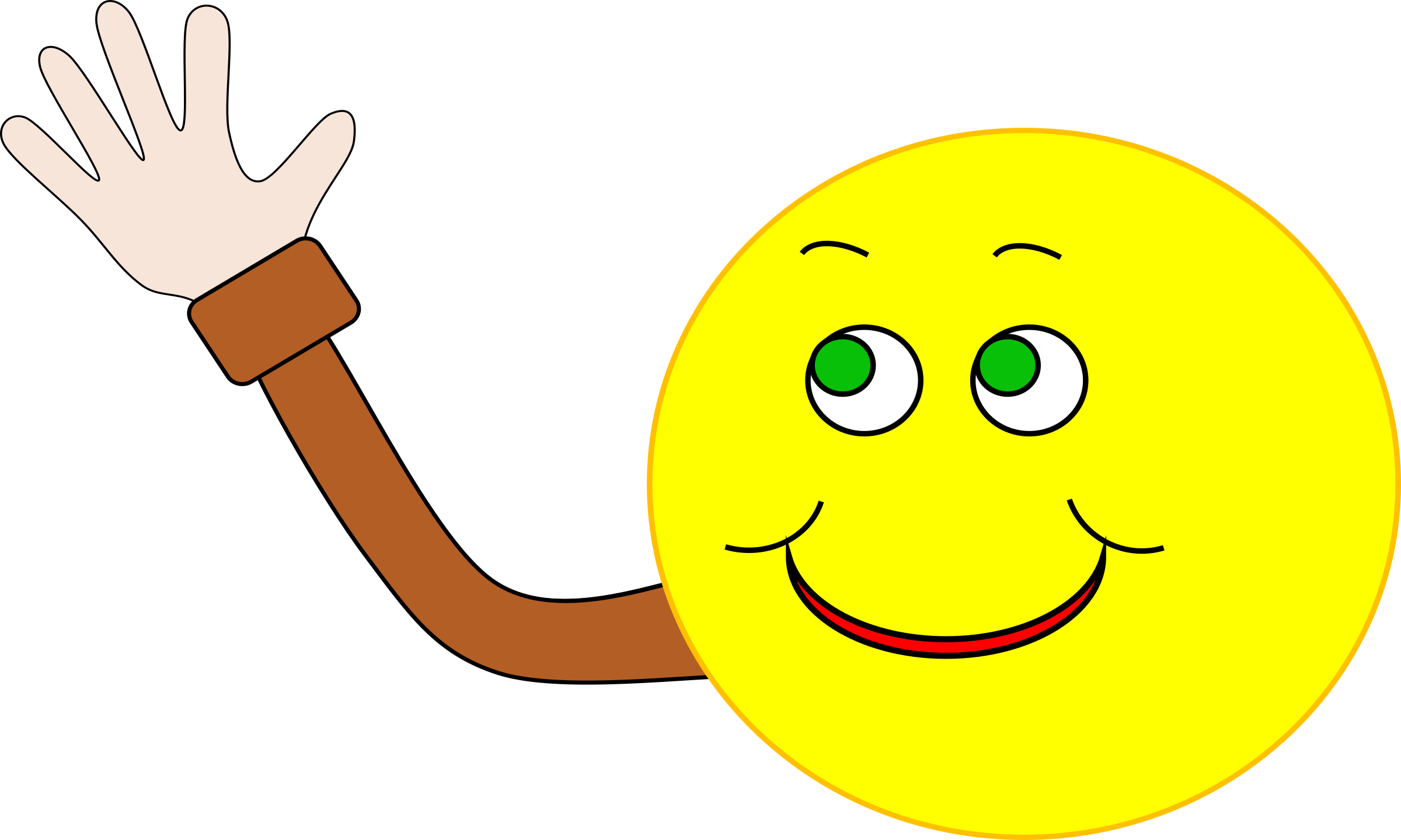 animated smiley faces waving goodbye