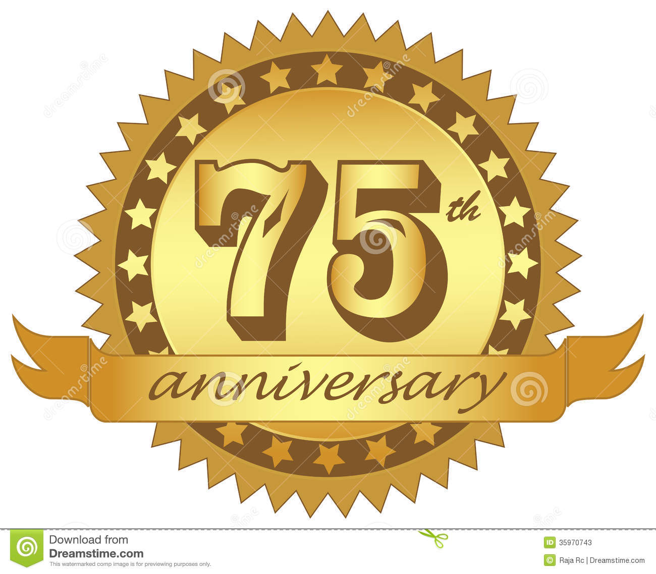 Vector Logo Of Anniversary On White Background