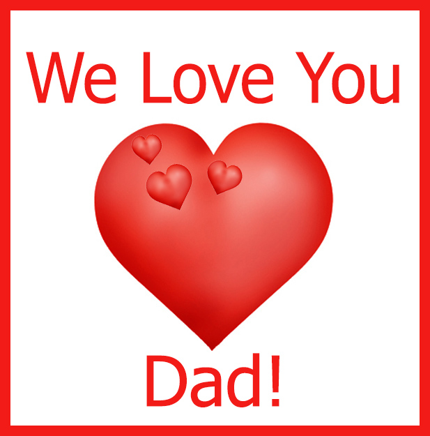 We Love You Dad Fathers Day Clipart