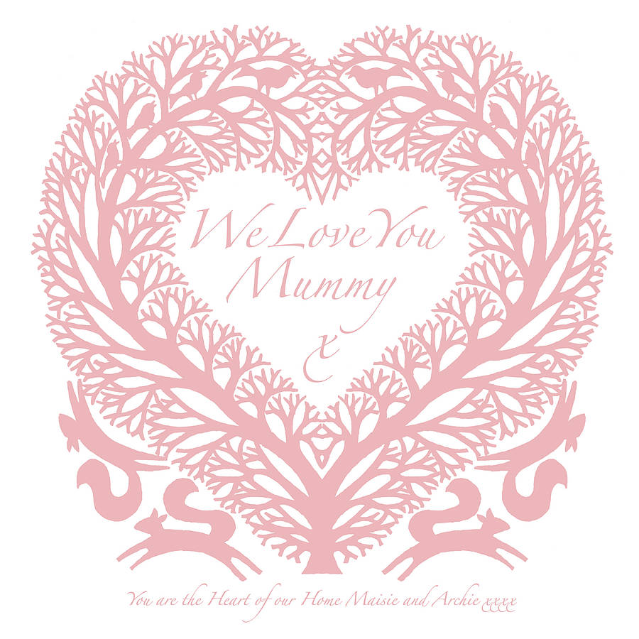 We Love You Mom Personalised  I Love You