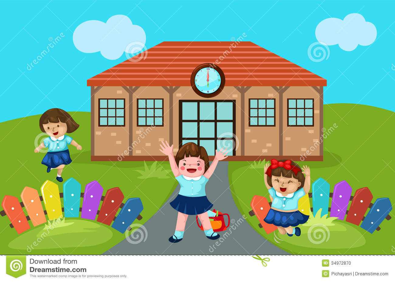 Cute Kindergarten Clipart - Clipart Kid