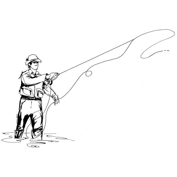 Fly Fishing Clipart - Clipart Kid