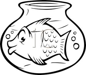 Goldfish Clipart Black And White Goldfish In A Bowl Royalty Free