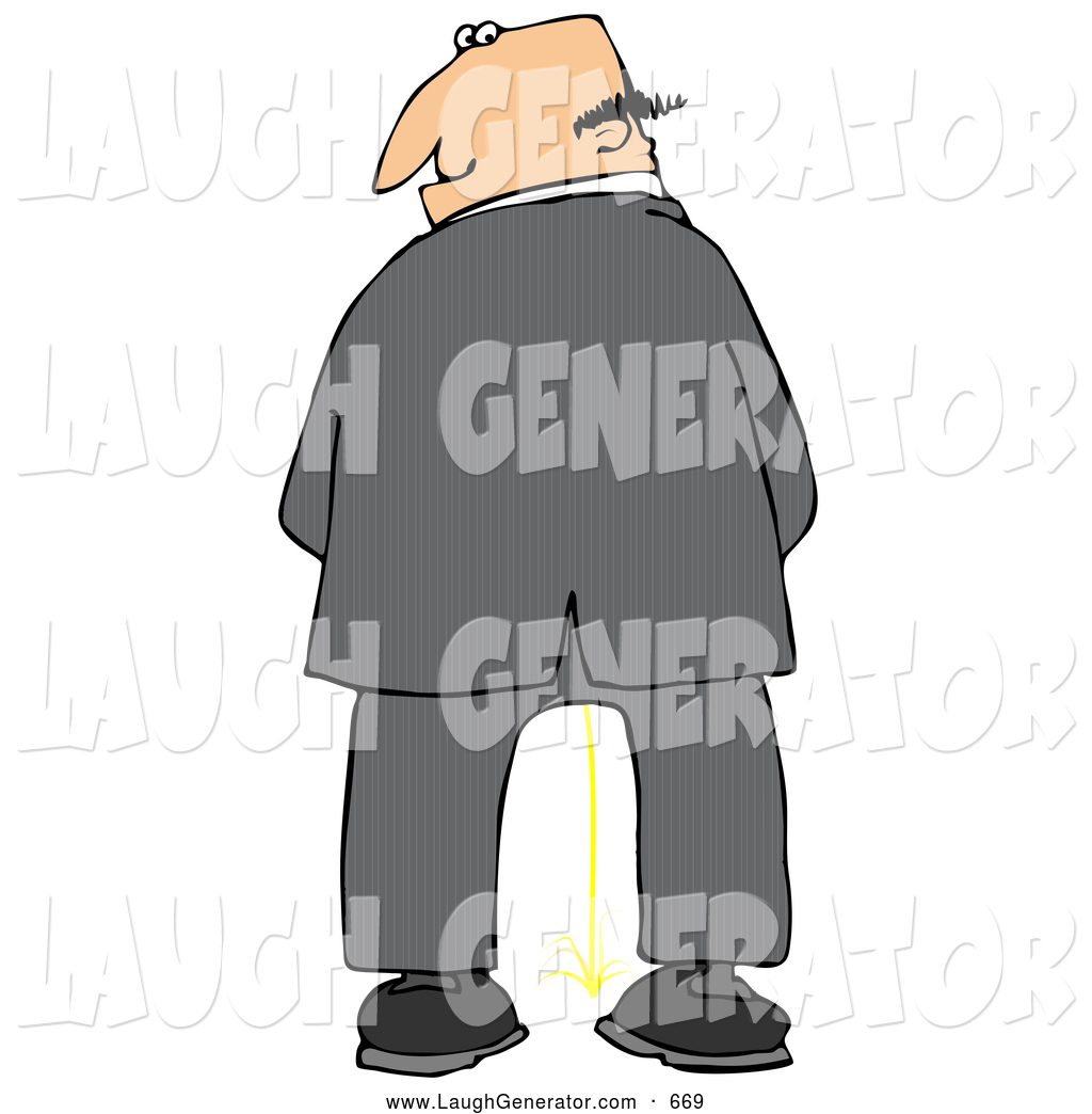 Larger Preview  Humorous Clip Art Of A White Caucasian Business Man