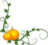 Pumpkin Vines   Royalty Free Clip Art