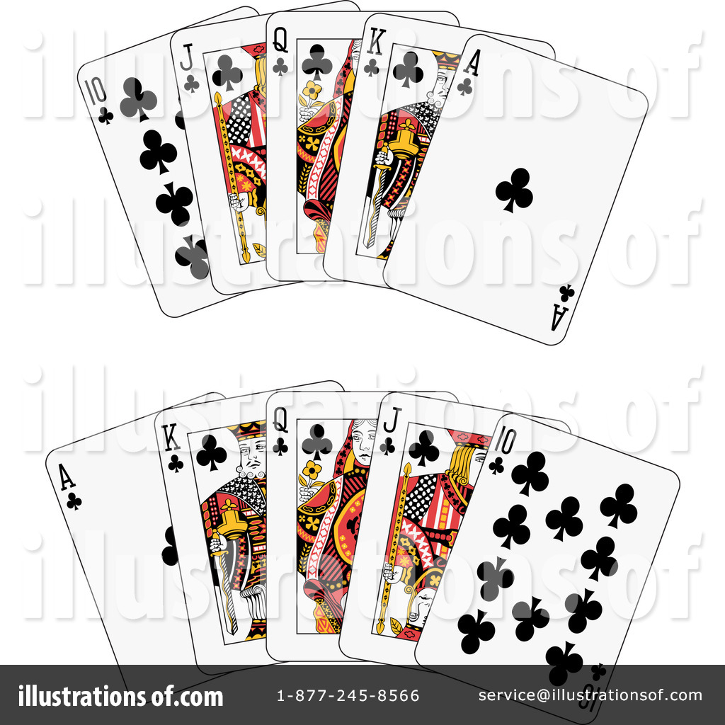 Royalty Free  Rf  Playing Cards Clipart Illustration By Frisko   Stock