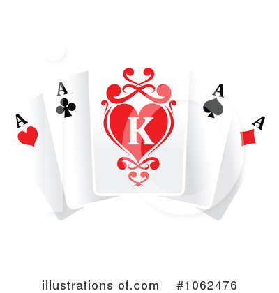 Royalty Free  Rf  Playing Cards Clipart Illustration By Seamartini