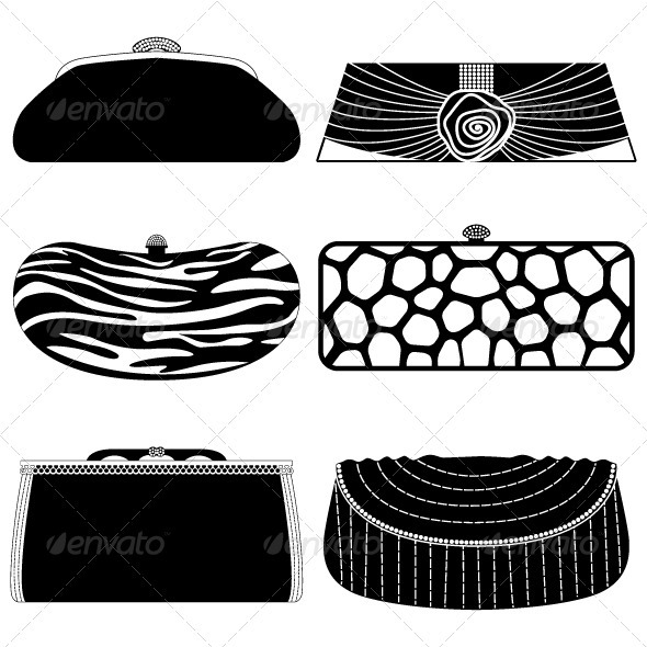 Set Of Modern Purses Design For Woman
