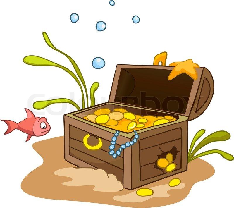 Stock Vector Of  Chest Treasure Cartoon