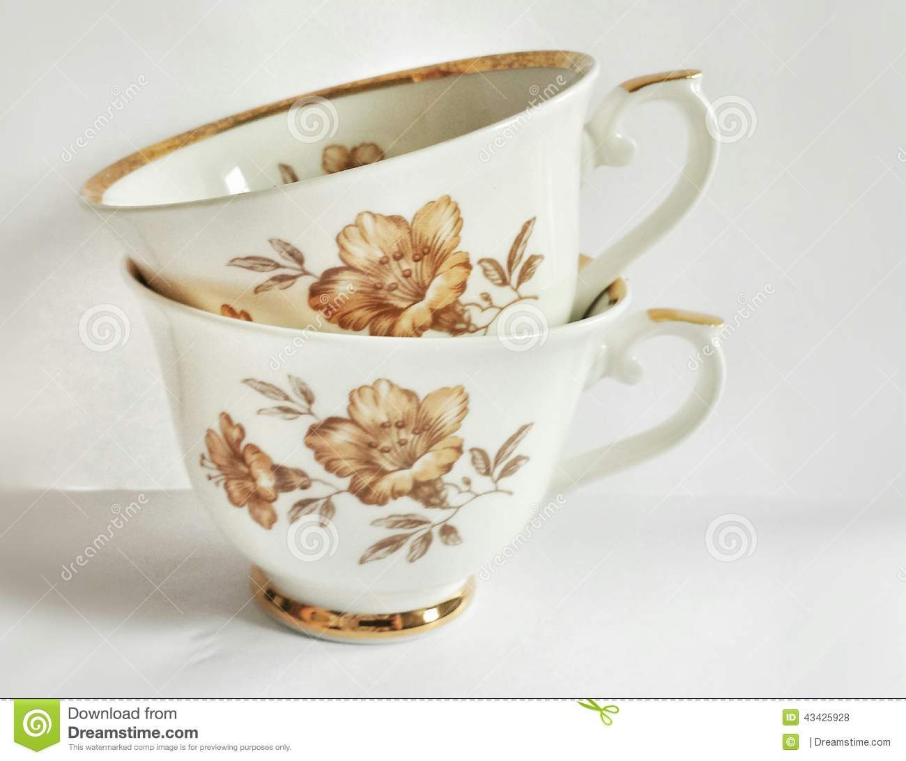 Beautiful Cups Stock Photo   Image  43425928
