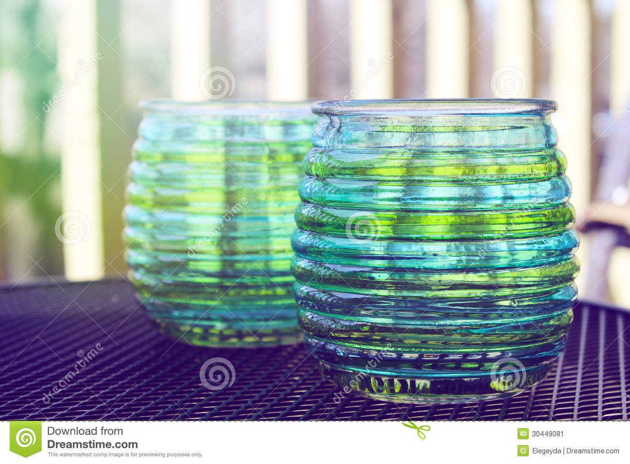 Beautiful Design With Glass Cups Stock Image   Image  30449081
