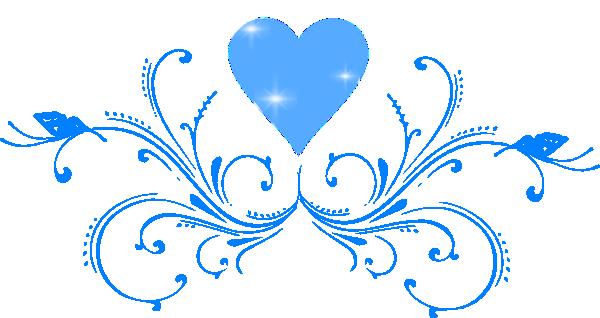 Blue Scroll Border Clip Art Cliparts