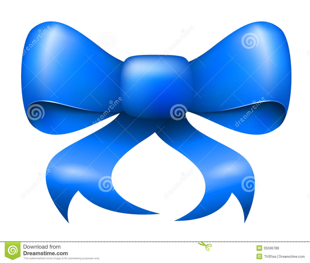 Blue Ribbon Bow Clipart Vector Blue Christmas Ribbon