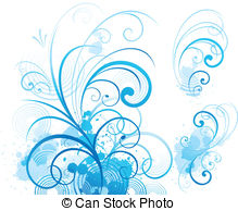 Blue Scroll Clip Art Vector Graphics  7196 Blue Scroll Eps Clipart