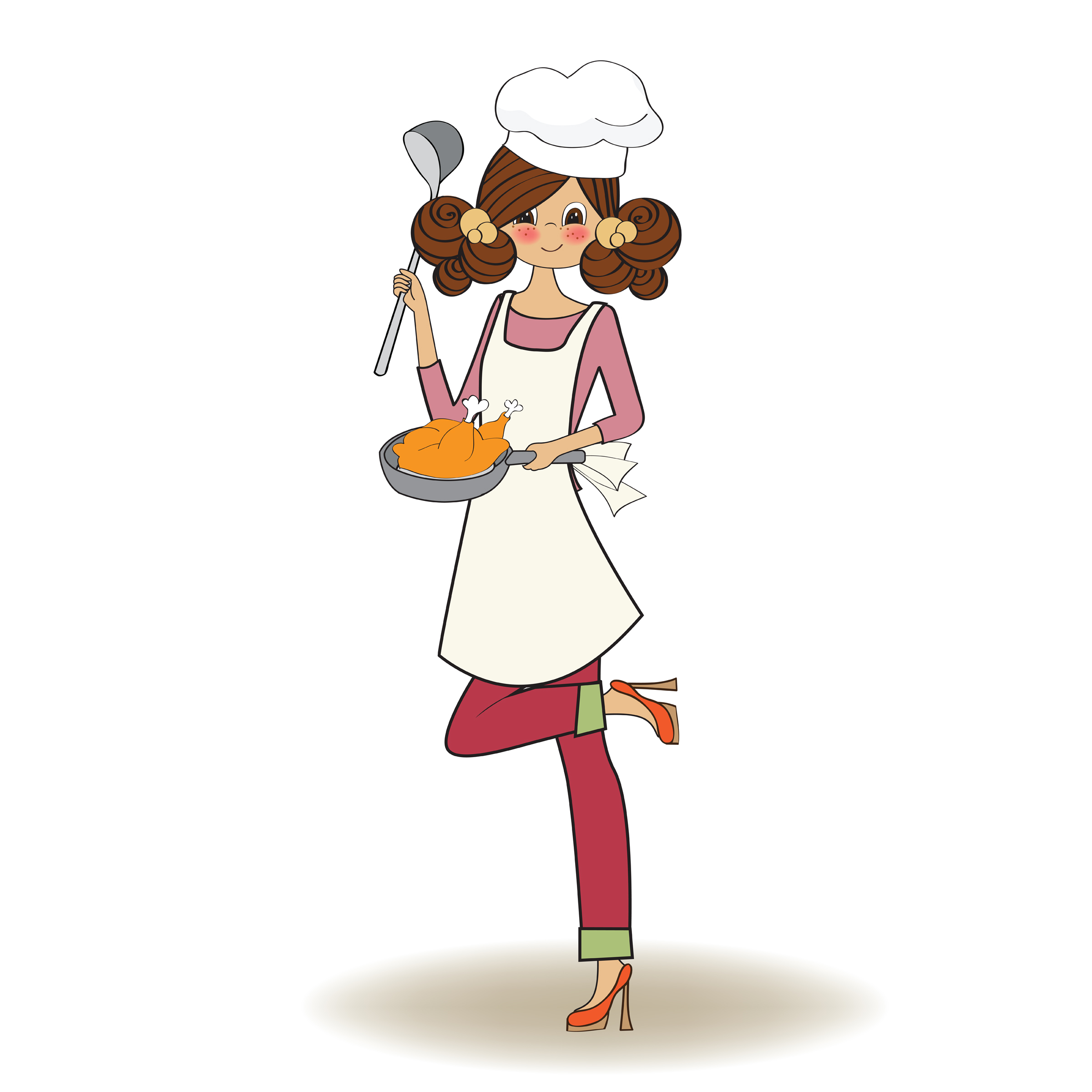 Cooking Woman Chef Clipart - Clipart Suggest