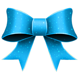 Christmas Blue Ribbon Icon
