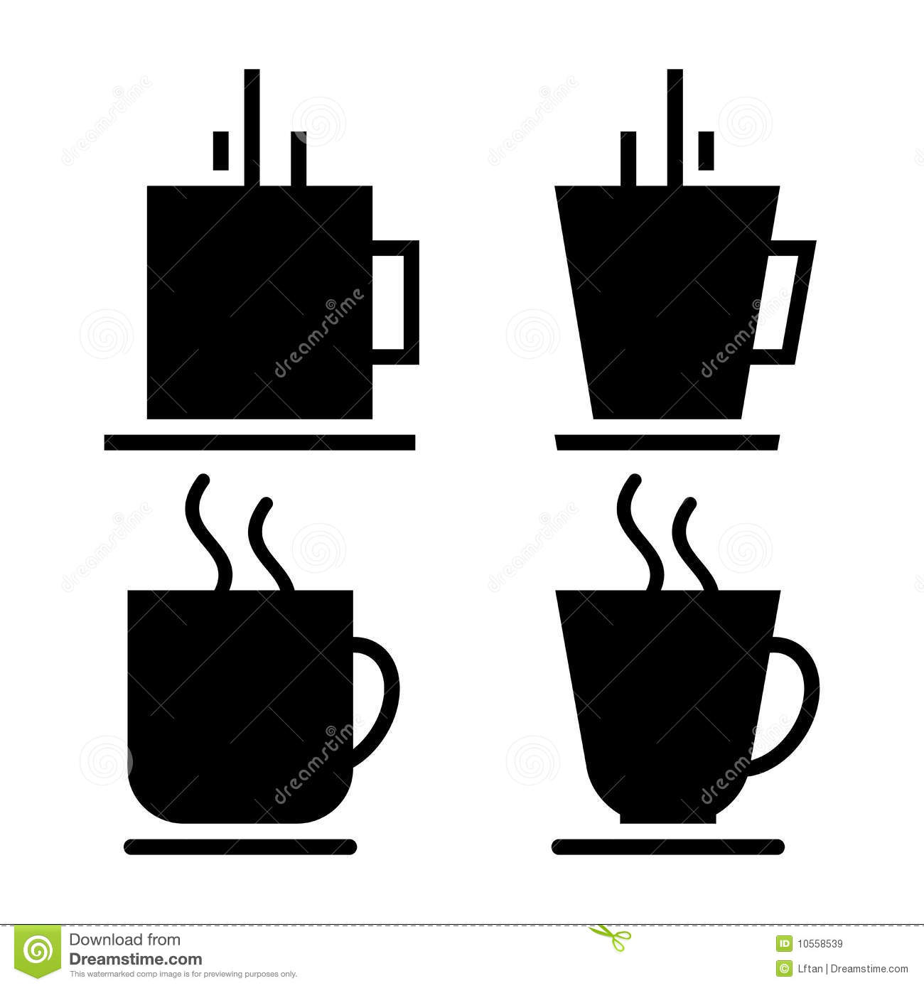 Coffee Cups Royalty Free Stock Images   Image  10558539