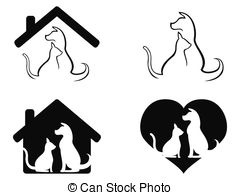 Dog And Cat Pet Caring Symbol   Isolated Dog And Cat Pet
