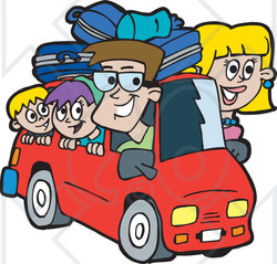 Clip Art Road Trip Clip Art road trip cartoon clipart kid free rf illustration of a family on version 3